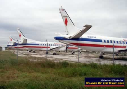 American Eagle Airlines Saab 340 Airliner Storage In