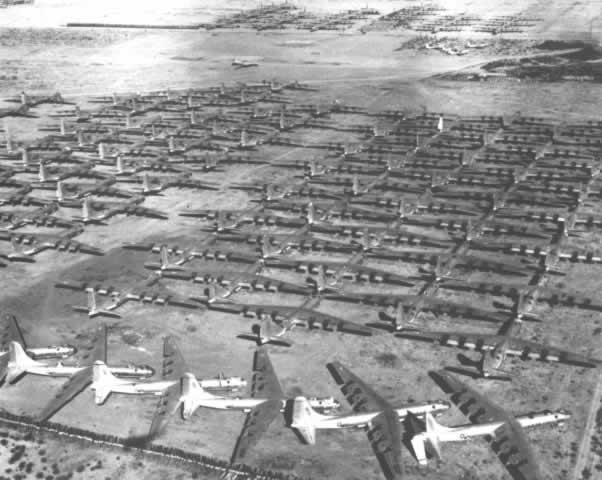 Davis Monthan AFB, Tucson, AZ, largest aircraft boneyard in