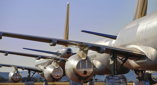 Asia Pacific Aircraft Storage at Alice Springs Airport in Australia