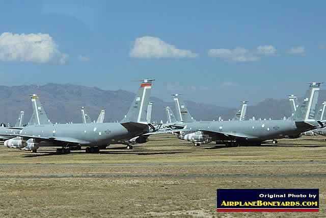 USAF KC-135 tankers in storage at Davis-Monthan's AMARG facility
