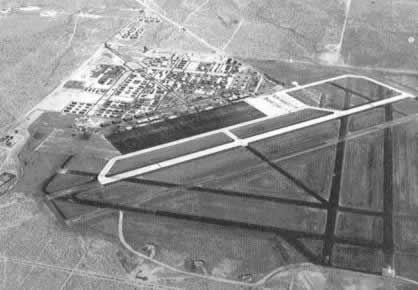 Aerial view of Victorville Army Air Field, August, 1943