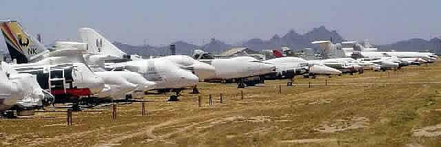 Davis-Monthan AFB, Tucson, AZ, largest aircraft boneyard ...