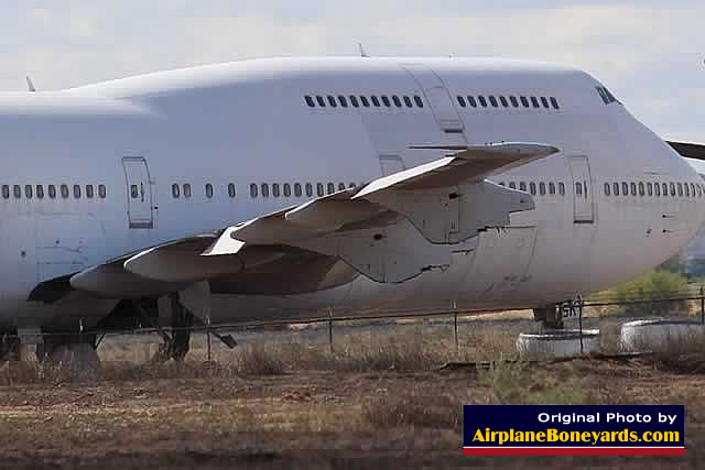 Airplane boneyard storage, scrapping, salvage, dismantling