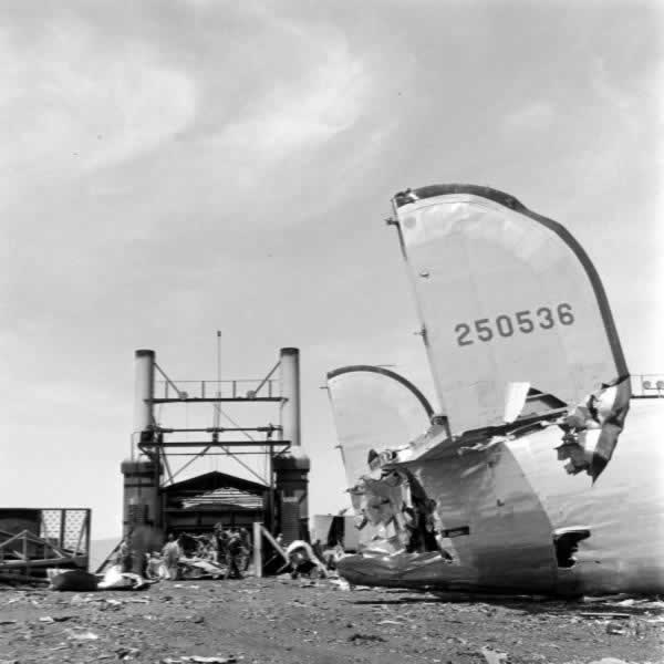 Aircraft boneyards, surplus airplane sales depots, and scrapping