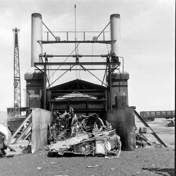 One of the three smelters, or furnaces, used at Kingman to melt aircraft parts