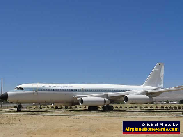 Convair 990 Jetliner gatekeeper on display at the entrance to the Mojave Airpor
