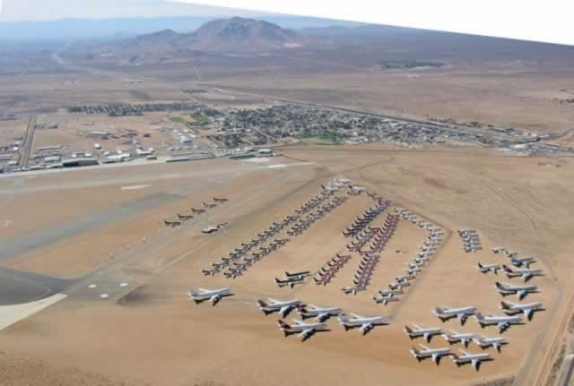 Mojave Desert California Airplane Boneyard on car storage facilities los angeles