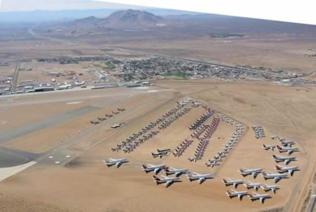 Airplane Boneyards Near Las Vegas Nevada Locations Maps