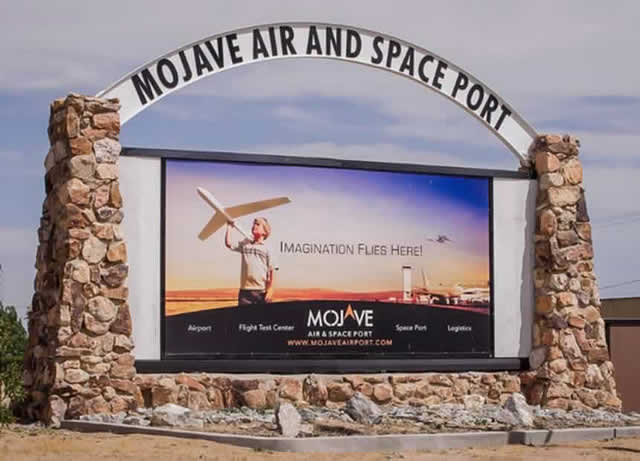 Mojave Air and Space Port in the California desert, and its