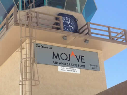 The tower at Mojave Airport in the California desert