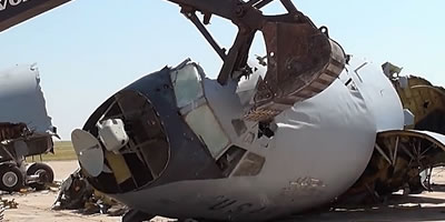 Roswell Recycling Center >> Airplane boneyard storage, scrapping, salvage, dismantling ...