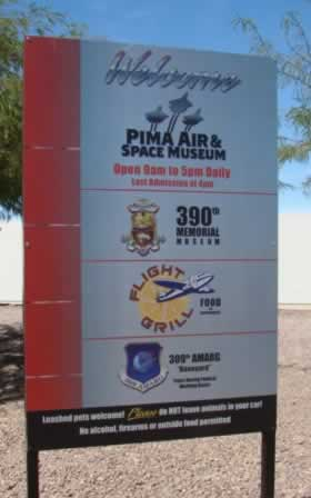 Main entrance, Pima Air & Space Museum, the starting point for bus tours of Davis-Monthan AFB's AMARG boneyard facility