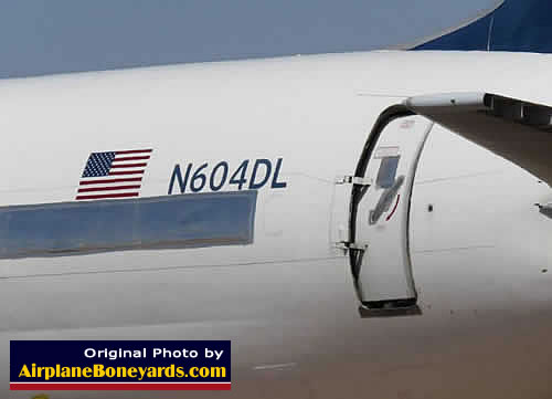 Pinal Airpark Airport An Airliner Storage Maintenance And Section As Well Airplane Parts Names On 747 Diagram Delta Air Lines Boeing 757 232 N604dl In At The Arizona