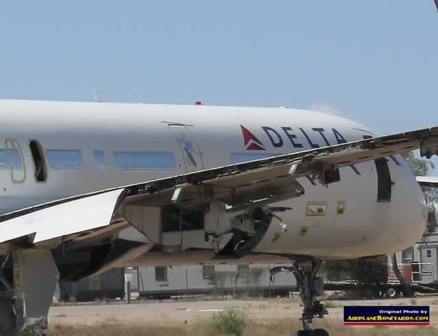Delta Air Lines Boeing 757-232 N604DL being salvaged at the Pinal Airpark in Arizon