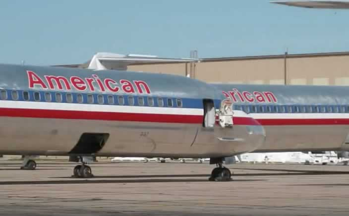 American Airlines McDonnell-Douglas MD-8X jetliners at the Roswell International Air Center