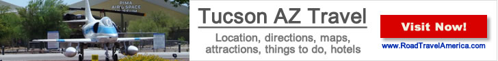 Visiting the Phoenix Goodyear Airport and staying in Tucson? Click for details about Tucson lodging options, attractions and maps