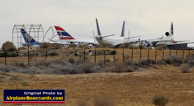 Jetliners In Storage In The Desert At The Southern California Logistics  Airport Near Victorville