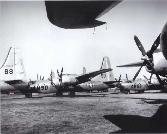 B-32 bombers stored at Walnut Ridge, Arkansas, after WW II