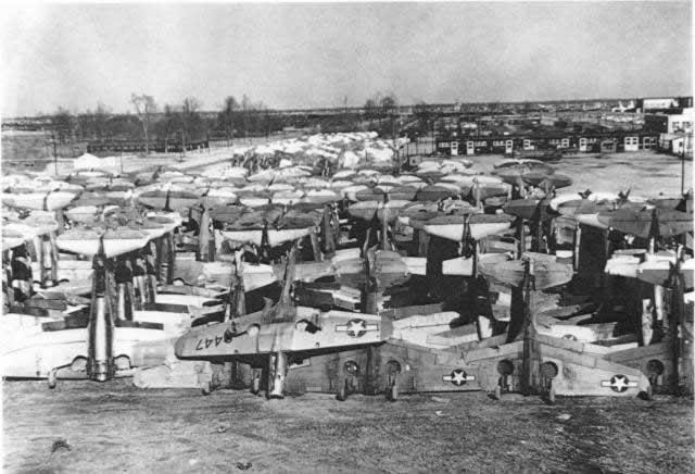 Walnut Ridge Army Air Field military aircraft boneyard and