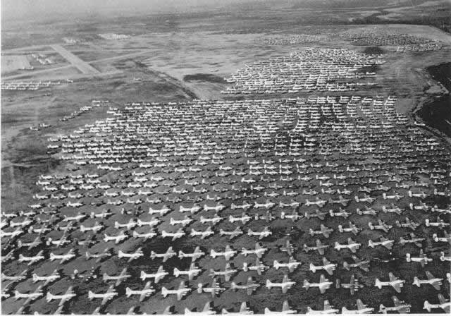Long-term military aircraft storage facilities and boneyards
