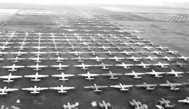 Ontario Airplane Boneyard At Cal Aero Airfield A Military